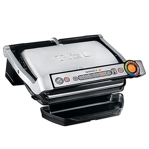 bed bath and beyond grill t fal 174 optigrill stainless steel indoor electric grill