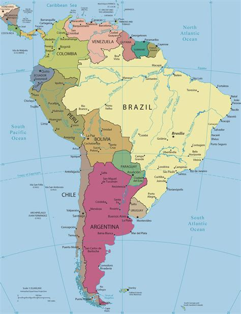 political map of south america south america political map