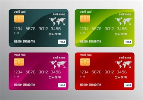 visa card template credit card template coreldraw free vector