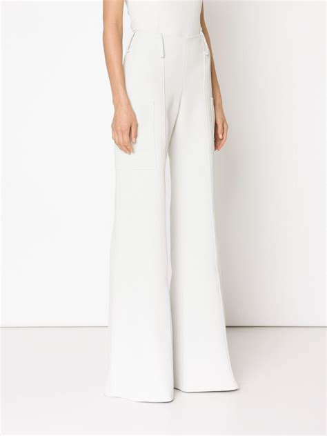 Highwaist Pant White hellessy high waisted flared trousers in white lyst