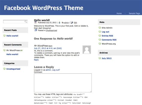 Facebook Themes In Wordpress | facebook wordpress theme famelook themedorks