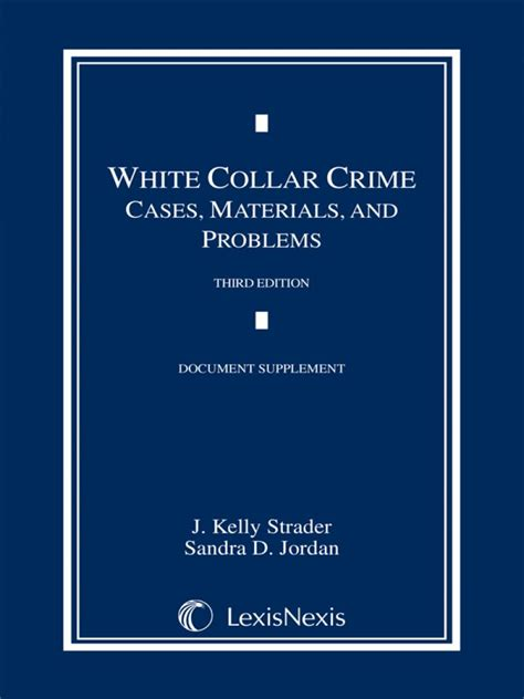 supplement document white collar crime cases materials and problems