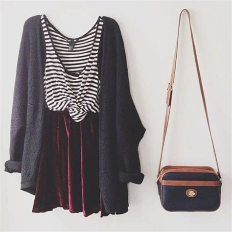 Ghaida Simple Choker Dress Maroon dress cardigan sweater stripes purse bag tank top