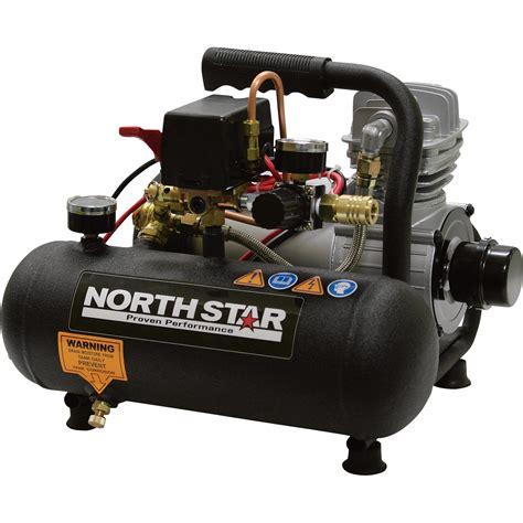 shipping northstar portable electric air compressor  hp  gallon hot dog  cfm