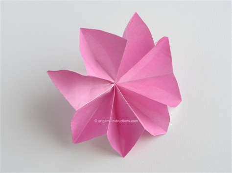 Origami 4 Petal Flower - easy origami flowers car interior design
