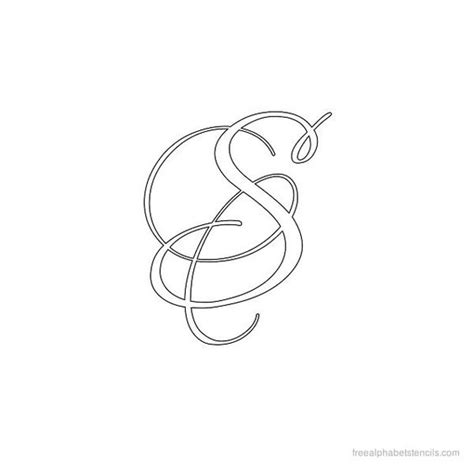 caligraphy template calligraphy alphabet stencil s letter s