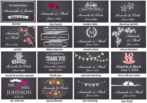 label design malaysia chalkboard wedding personalized matches 50 pcs