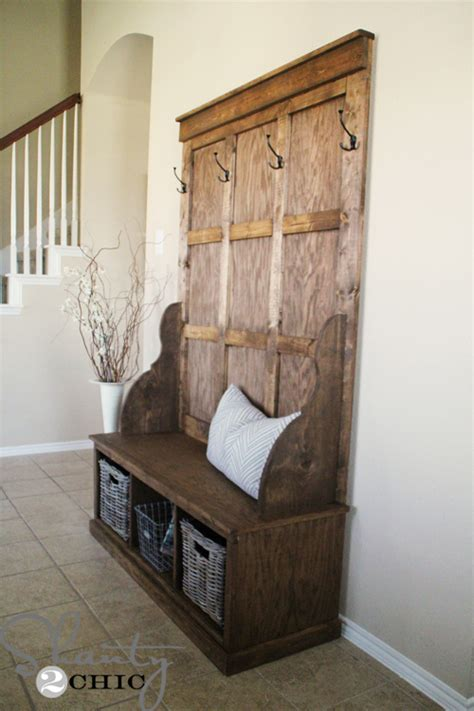 diy hall bench pdf diy how to build a hall tree storage bench download homemade bookcase plans