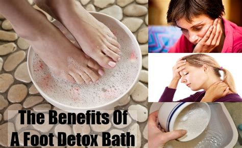 Benefits Of Foot Detox Treatment by Foot Detox Bath Detoxification Benefits From The
