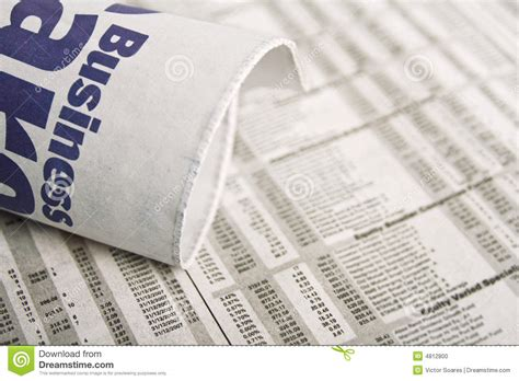 business section of newspaper newspaper business news stock photo image 4812800