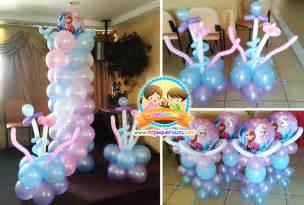 Decoraci n de globos de frozen mi pequefiesta