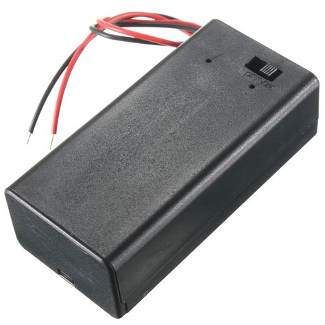 Battery Storage Box diy 9v battery storage container box holder with on toggle switch alex nld