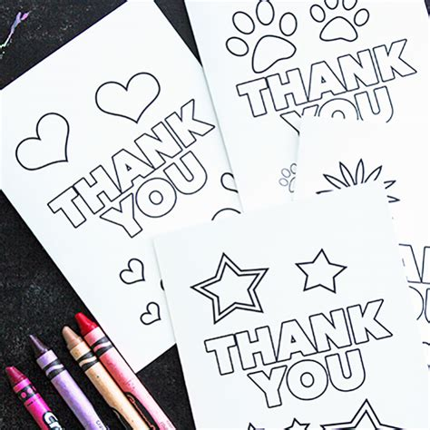printable thank you cards to colour in free printable thank you cards for kids to color send