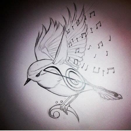 bird music tattoo bird note tattoos notes