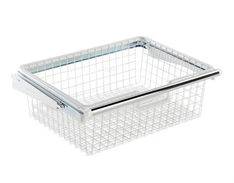Closet Organizers Wire Baskets by Homefree Series White Wire Sliding Basket Closet Organizer