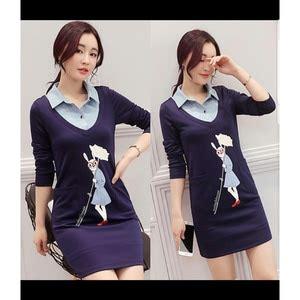 Mini Dress Kerah baju mini dress pita cantik model terbaru murah
