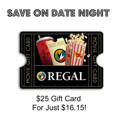 Regal Cinema Gift Card Amount - save on date night 25 regal cinema s gift card for just 16 15