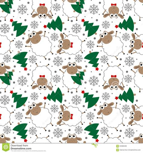 new year sheep pattern doodle seamless pattern of new year sheep stock
