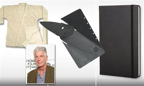 anthony bourdain knife anthony bourdain can t travel without a credit card knife