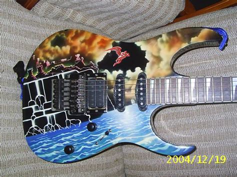 Handmade Usa - ibanez usa custom necromancer s castle graphic