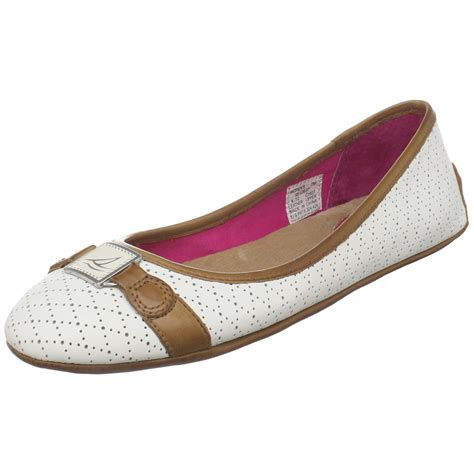 Flat Shoes Sperry sperry top sider palmdale flats in white lyst