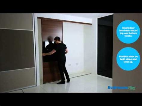 How To Fit Sliding Wardrobe Doors by How To Fit Sliding Wardrobe Doors Install Track Doors