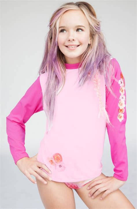 tween thon stella cove pink i am a firework l s rash guard sz 4 only