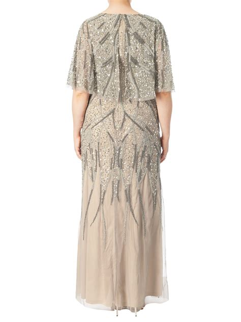plus size beaded dress papell plus size beaded cape dress exclusive