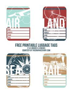 printable airline luggage tags luggage tags labels on pinterest vintage luggage tags