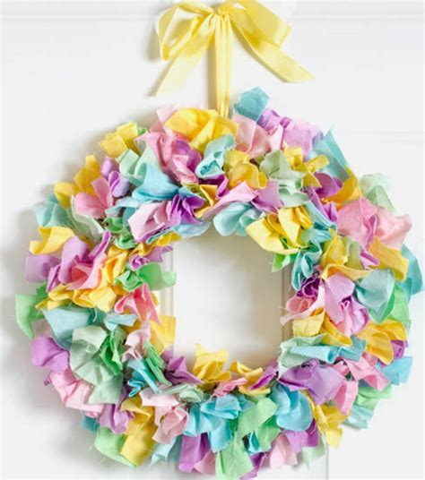 fabric crafts spring the colors bright fabric wreath for