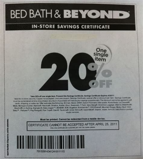 coupons for bed bath beyond bed bath and beyond printable coupons zimbio