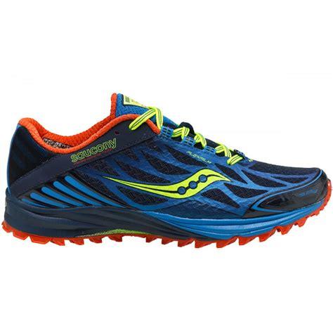 saucony minimalist shoes peregrine 4 minimalist trail running shoes blue citron