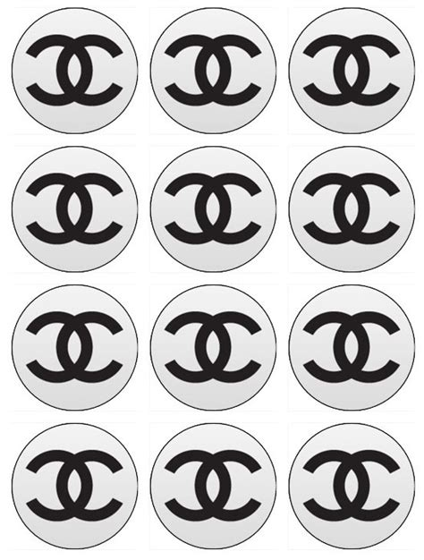 86 Best Chanel Baby Shower Images On Pinterest Edible Label Template