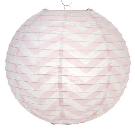 Paper Lanterns - pink chevron paper lantern