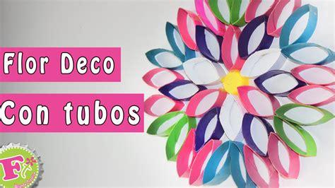 imagenes de flores con tubos de papel bao diy flor deco de tubos de papel decora tu recamara