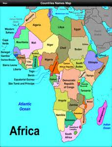 Countries Of Africa Map by Bilingual Social Science
