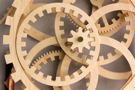 custom project wood gear clock plans dxf