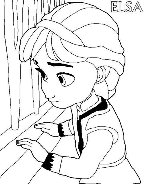 little elsa coloring page little elsa free colouring pages