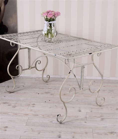 dining table shabby chic garden garden table metal table