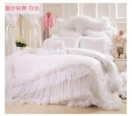 King Size Bed Korea Korean Satin Jacquard Lace Bed Skirts Bedding Sets King