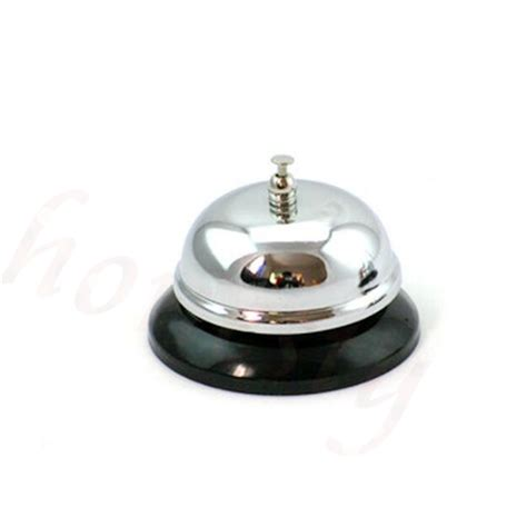 Reception Desk Bell Restaurant Hotel Kitchen Service Steel Bell Ring Reception Desk Call Ringer New
