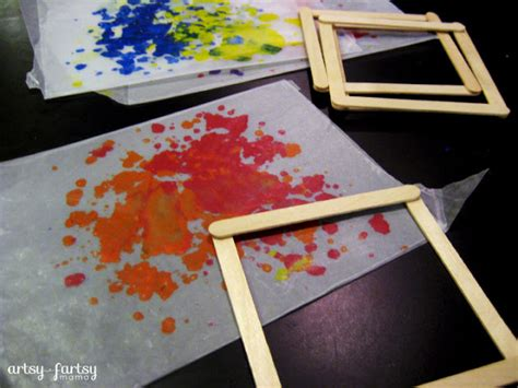 Wax Paper Craft - diy wax paper lantern artsy fartsy