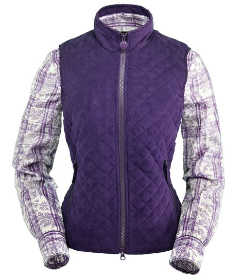 Purple Quilted Vest by Pungo Ridge Outback Grand Prix Quilted Vest