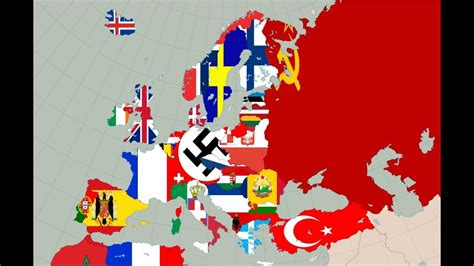flags of the world history map of europe 1938 flag map speed art youtube
