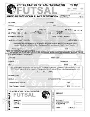 player registration form template player registration form template word fill