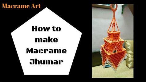 Macrame How To Make - how to make macrame jhumar design 2 easy tutorial