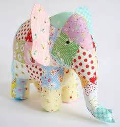 Patchwork Stuffed Animal Patterns - 1000 ideas about stuffed elephant on elephant