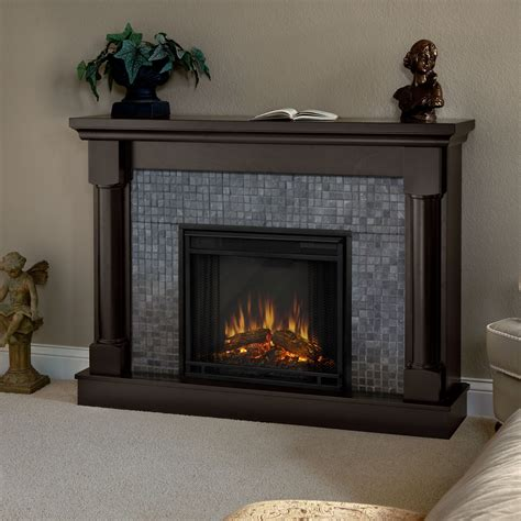 Living Room : Living Room With Electric Fireplace
