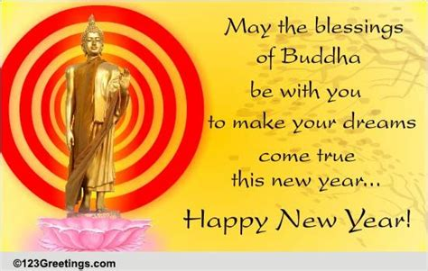 blessings of buddha free japanese new year ecards