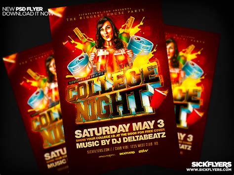 College Night Flyer Template college flyer psd by industrykidz on deviantart